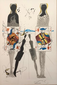 The Queens Croquet Ground, Surrealist Lithograph