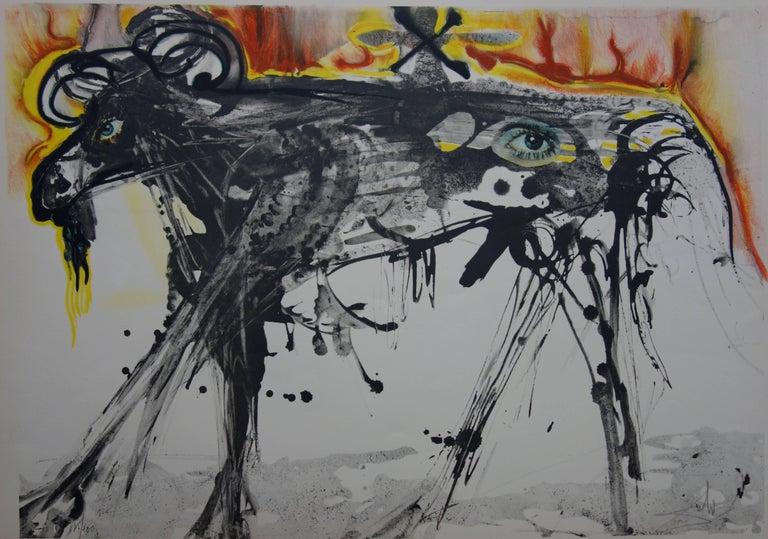The Ram (Homage to Gerrit Dou) - Original handsigned lithograph - 200 copies - Surrealist Print by Salvador Dalí