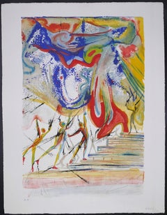 The Red Shoes - Original Lithograph by Salvador Dalì - 1966