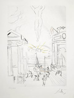 The Search for Golden Fleece - Original Etching by Salvador Dalì - 1979