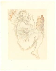 The Siren of the Dream - Original Woodcut by Salvador Dalì - 1963