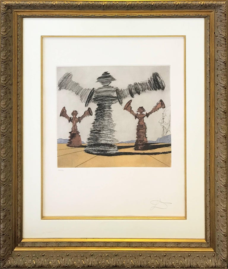 Salvador Dalí Figurative Print - THE SPINNING MAN
