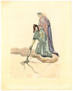 The Traitor of Montaperti - Original Woodcut Print by Salvador Dalì - 1963