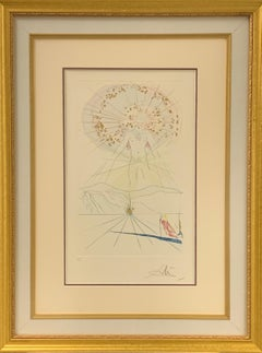 """The Voice of My Beloved"" Framed Intaglio Etching on Paper. Hand-signed"