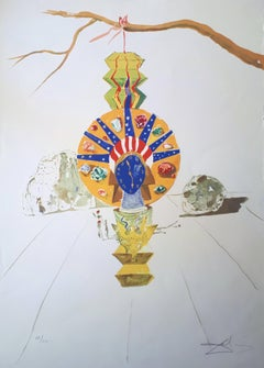 Time : American Clock, Timeless Statue - Handsigned Lithograph - 1976