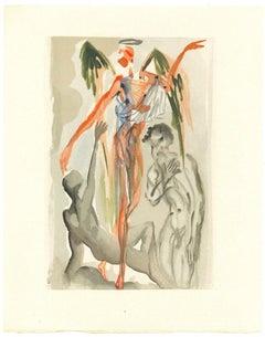 Towards the Tree of Law - Original Woodcut by Salvador Dalì - 1963