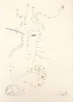 Tristal le Fou - Original Etching by S. Dalì - 1969