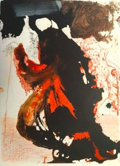 Trulla Caemetarii in Manu Domini - Original Lithograph by Salvador Dalì - 1964