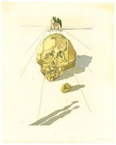 Ugolino and Ruggieri - Original Woodcut Print by Salvador Dalì - 1963
