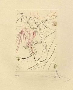 Le Peché Partagé - Original Etching by Salvador Dalì - 1972