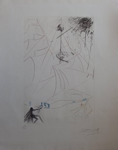 Vaisseau fantôme - Original handsigned drypoint etching - 1969 (Field #69-7)