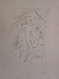 Venus, Mars et Cupidon - Original etching - 1971 - Artist proof