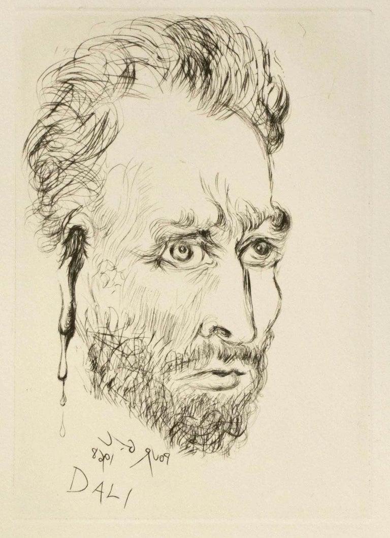 Vincent Van Gogh - Print by Salvador Dalí