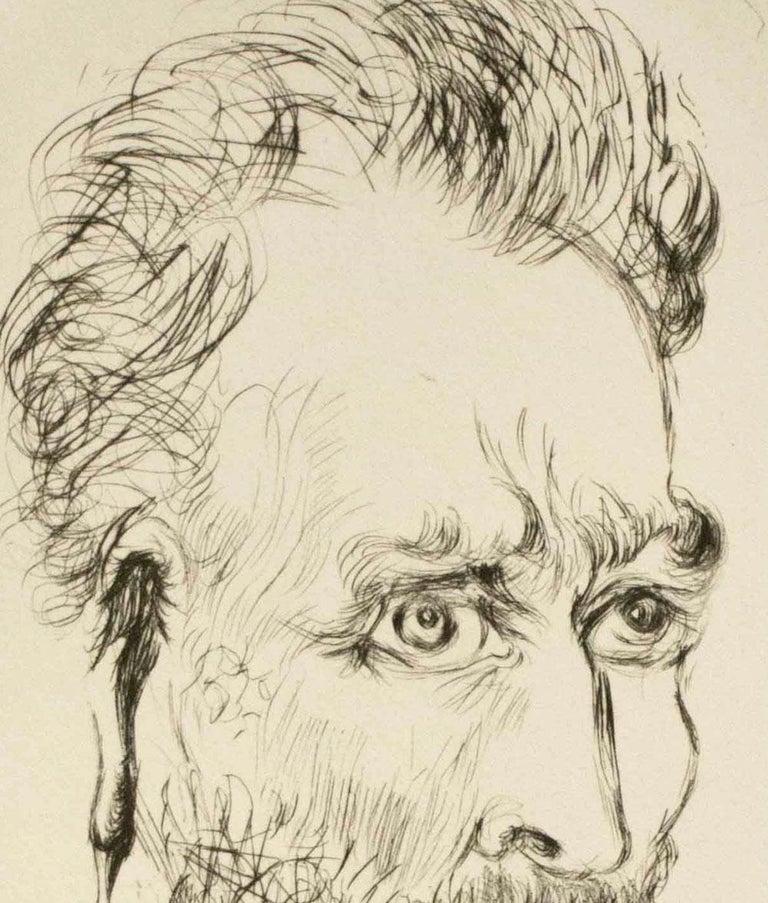 Vincent Van Gogh - Beige Portrait Print by Salvador Dalí