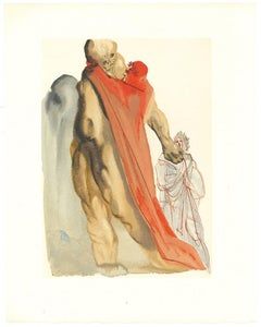 Virgil's Admonishment - Original Woodcut by Salvador Dalì - 1963