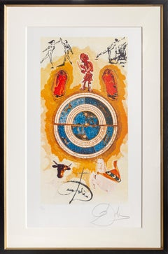 Wheel of Fortune from Lyle Stuart Tarot Print Suite by Salvador Dali