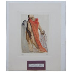 Salvador Dali Reproches de Virgile Divine Comedy Woodcut Engraving Purgatory