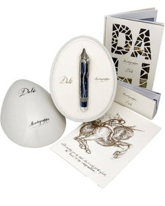 Cosmic Elephant - Montegrappa Fountain Pen With Silver Sculpture - Signed / COA