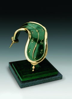 """""""Dance of Time II"""" limited edition bronze table sculpture soft pocket watch"""