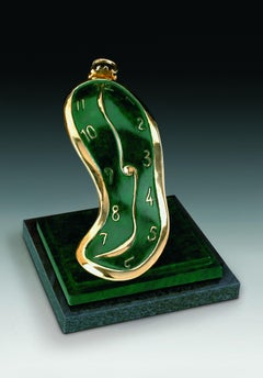 """""""Dance of Time III"""" limited edition bronze table sculpture soft pocket watch"""