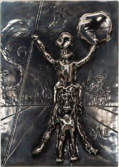 """Don Quixote"" [Silver Edition] Bas Relief Sculpture with Case by Salvador Dalí"