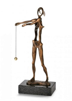 """""""Homage to Newton"""" limited edition bronze table sculpture patina brown"""