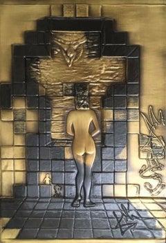 Lincoln in Dalivision (Bronze Bas Relief), Limited Edition, Salvador Dali