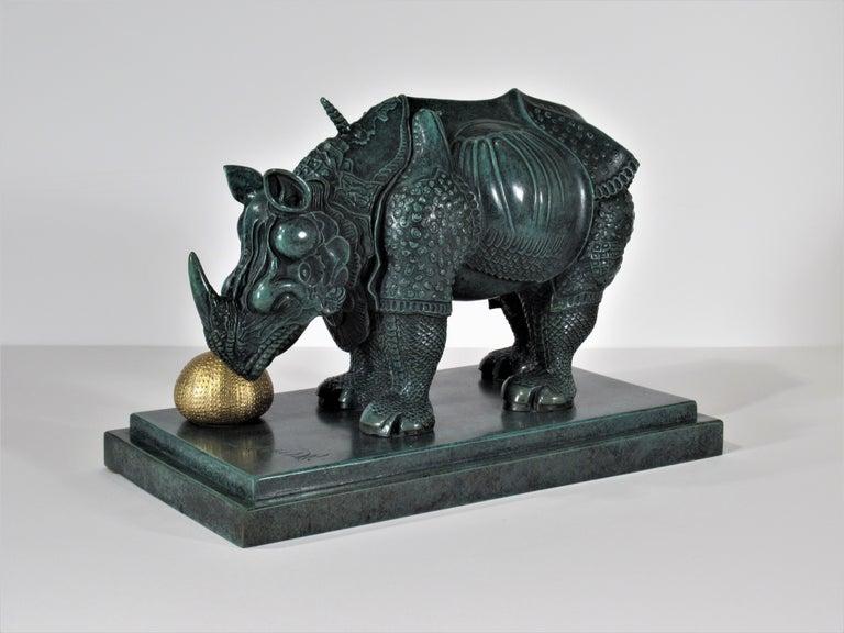 Rhinoceros Habille en Dentelles - Sculpture by Salvador Dalí