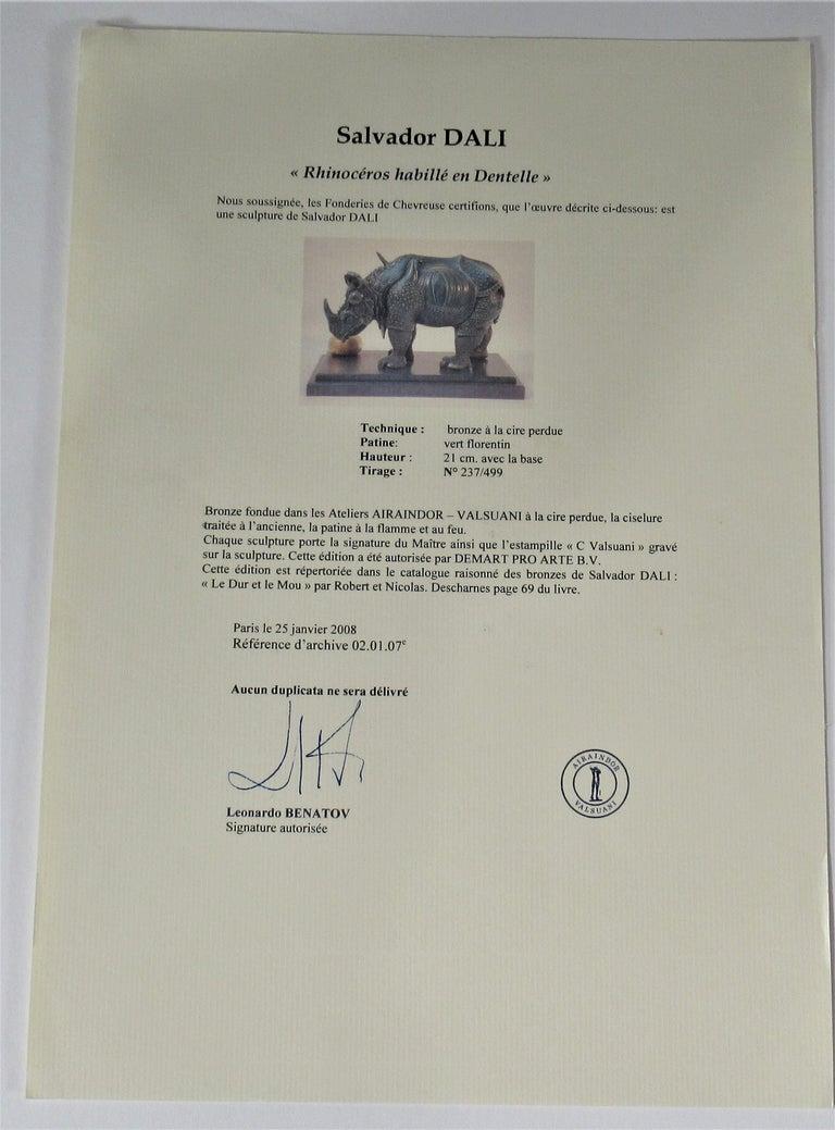 Rhinoceros Habille en Dentelles 2