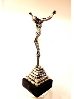 "Dali -  ""Christ of St John of the Cross"" - Solid Silver Signed Sculpture"