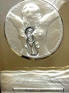 Salvador Dali - Fecundity - Bas Relief Silver Sculpture