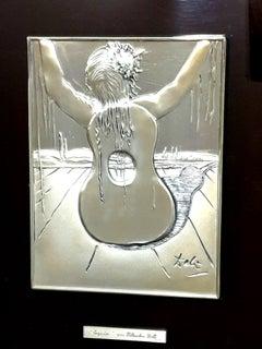 Salvador Dali - Spain - Bas Relief Silver Sculpture
