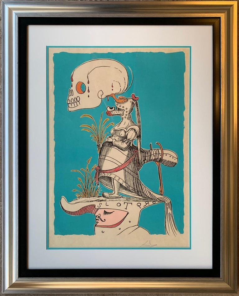 Salvador Dali signed E. A. series les Songes Drolatiques de Pantagruel suite  Salvador Dali's untitled cooperative lithograph from his series of 25 works of Les Songes Drolatiques de Pantagruel is hand-signed in pencil by Dali and is a rare E.A.