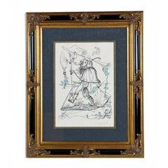 Salvador Dali Signed Framed Lithograph Les Songes Drolatiques De Pantagruel