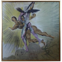 Salvador Dali Silk Scarf Foulard, 1950s