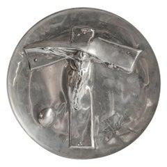 Salvador Dalí Silver Plaque