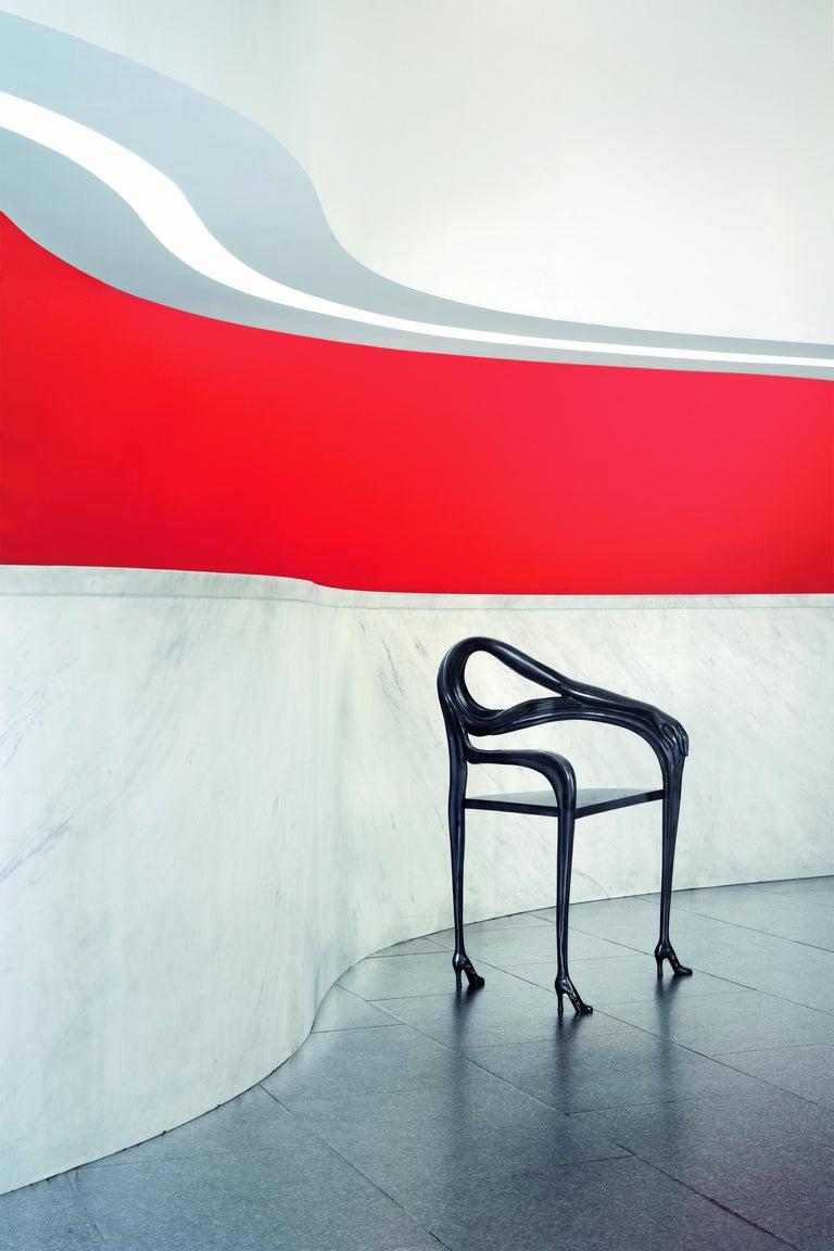 Modern Salvador Dali Surrealist Leda Armchair Sculpture Black Label Limited Edition For Sale