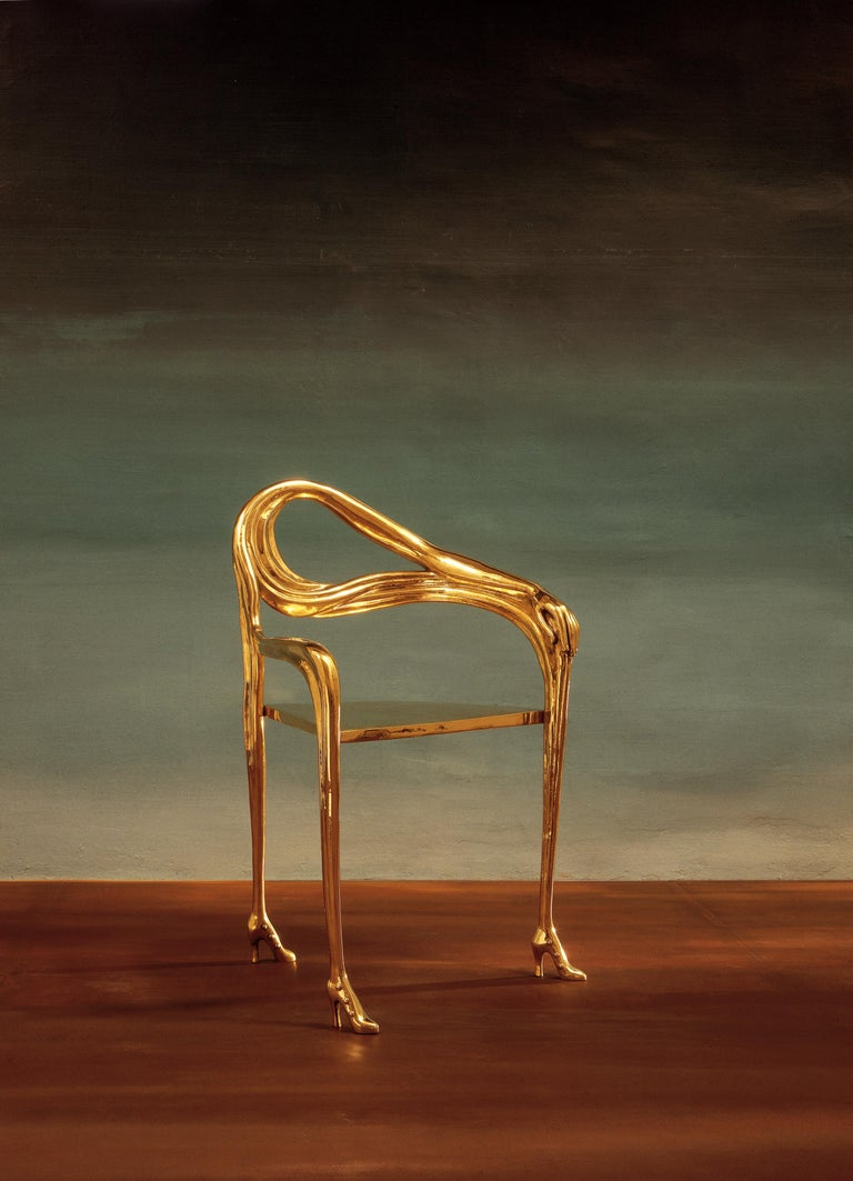 Salvador Dali Surrealist Leda Armchair Sculpture Black Label Limited Edition In New Condition For Sale In Barcelona, Barcelona