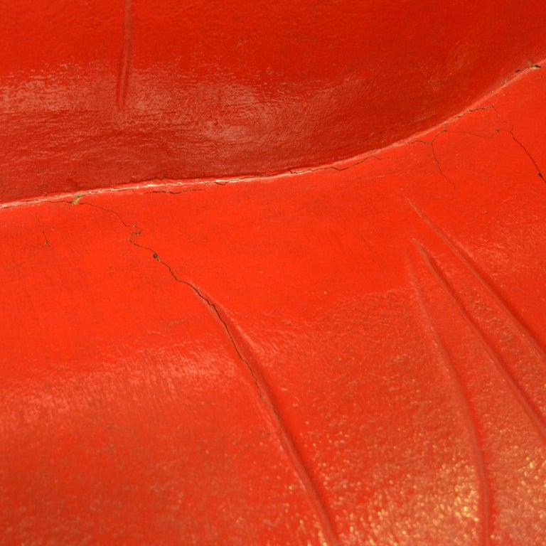 Salvador Dali Surrealist 'Salivasofa' Unique Prototype Red Lips Sofa For Sale 3