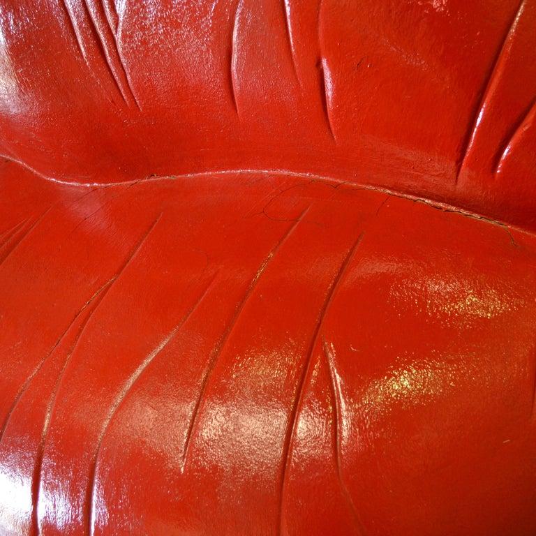 Salvador Dali Surrealist 'Salivasofa' Unique Prototype Red Lips Sofa For Sale 5