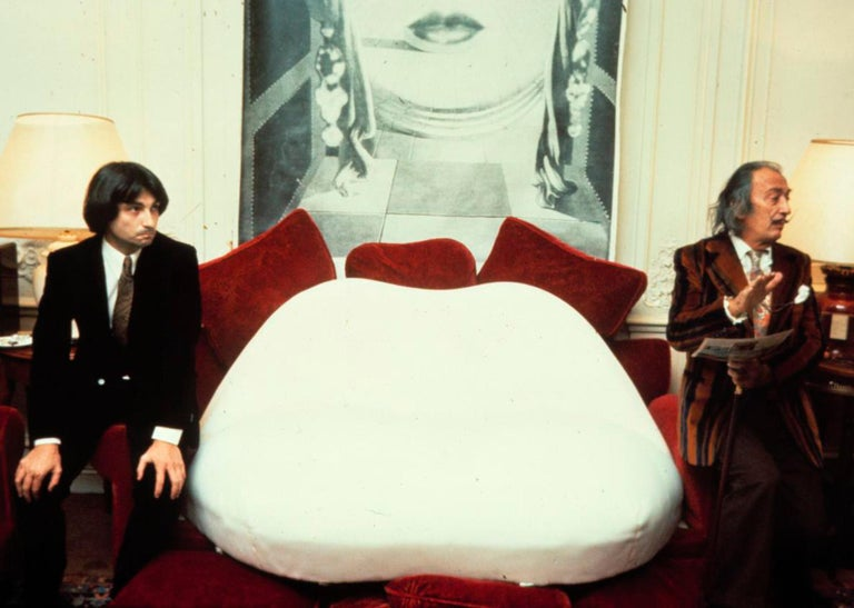 Salvador Dali Surrealist 'Salivasofa' Unique Prototype Red Lips Sofa For Sale 9