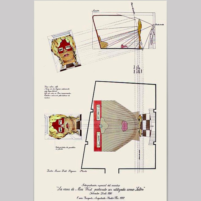 Salvador Dali Surrealist 'Salivasofa' Unique Prototype Red Lips Sofa For Sale 10