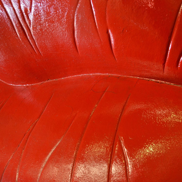 Foam Salvador Dali Surrealist 'Salivasofa' Unique Prototype Red Lips Sofa For Sale