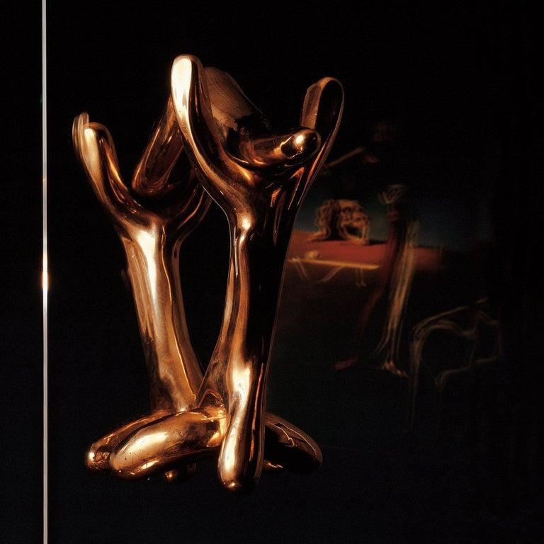 Mid-Century Modern Salvador Dali Surrealist Sculptural Bronze Rinocerontico Double Knob For Sale