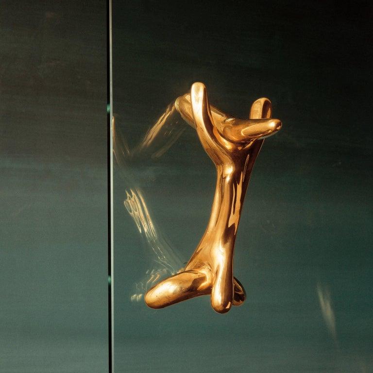Spanish Salvador Dali Surrealist Sculptural Bronze Rinocerontico Double Knob For Sale