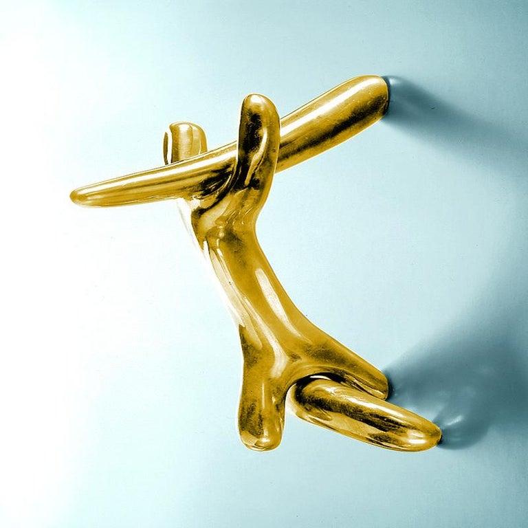 Salvador Dali Surrealist Sculptural Bronze Rinocerontico Double Knob For Sale 1