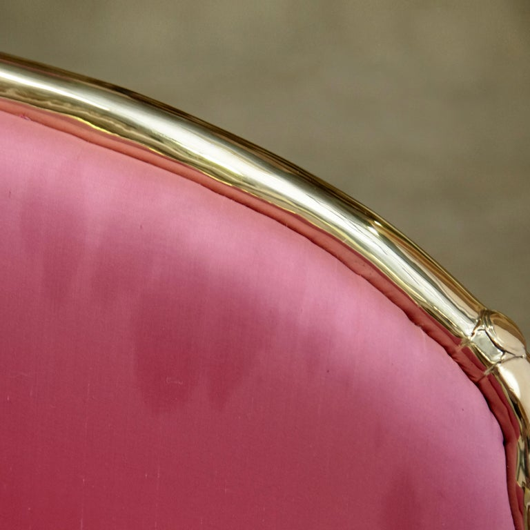 Salvador Dali Surrealist 'Vis-à-vis De Gala' Pink Upholstered Sofa, nº 54 For Sale 2