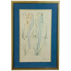 """Salvador Dali """"Two Nudes"""" of Song Solomon Etching Signed and Numbered"""
