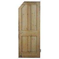 Salvaged 4 Panel Pine Door, 20th Century