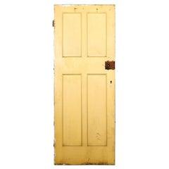 Salvaged 4 Panelled Door, 20th Century